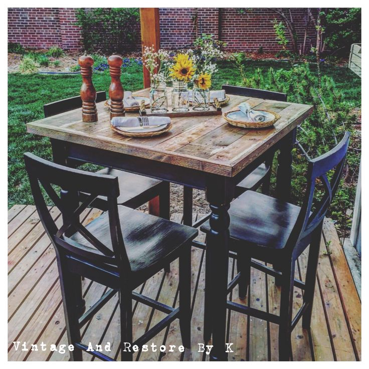 Lovable Outdoor High Top Chairs Patio Patio High Top Table Brown