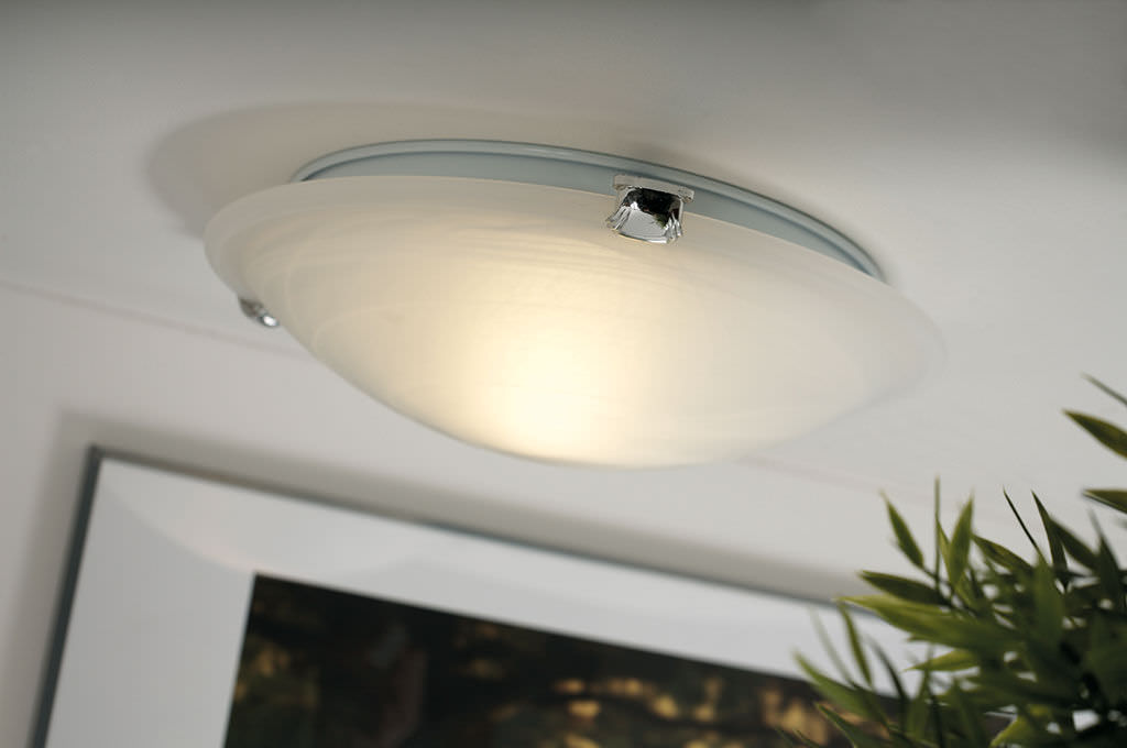 Lovable Round Ceiling Light Contemporary Ceiling Light Round Glass Fluorescent Petri