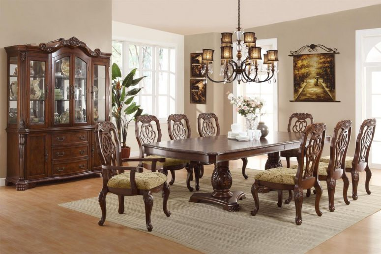 Attractive Solid Wood Formal Dining Room Sets Black And Wood ...