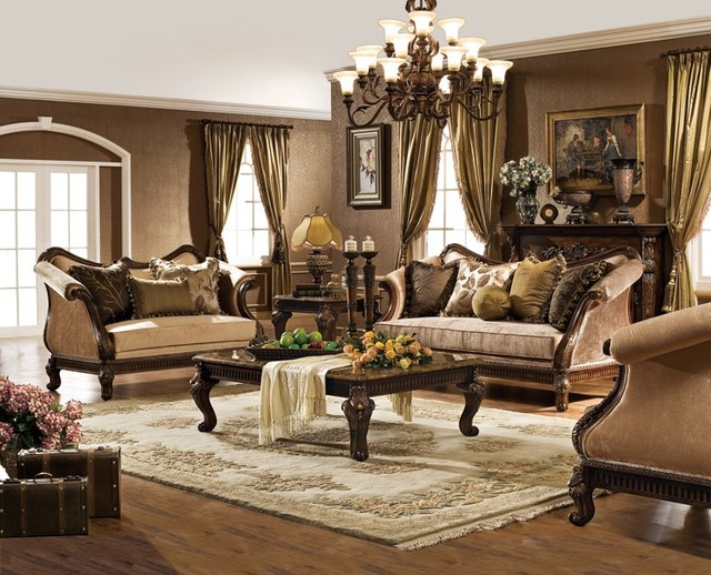 Lovable Traditional Living Room Sets Hampton Living Room Set Traditional Living Room Orange