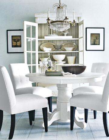 Lovable White Dining Room Decor A Room With Two Hues Sophisticated
