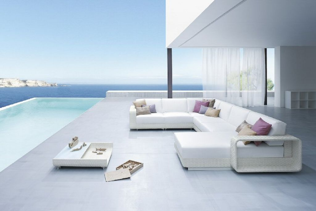 Lovable White Modern Patio Furniture White Outdoor Patio Furniture