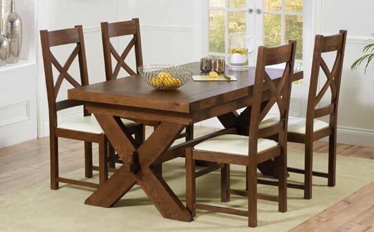 Lovable Wooden Dining Table And Chairs Nice Dark Wood Tables