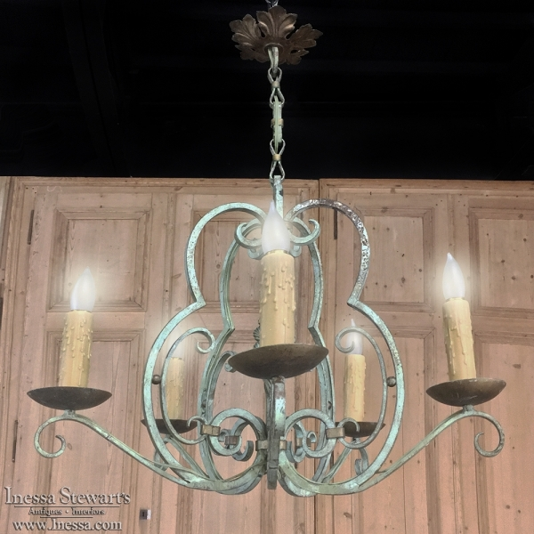 Lovable Wrought Iron Chandeliers Antique Country French Painted Wrought Iron Chandelier Inessa
