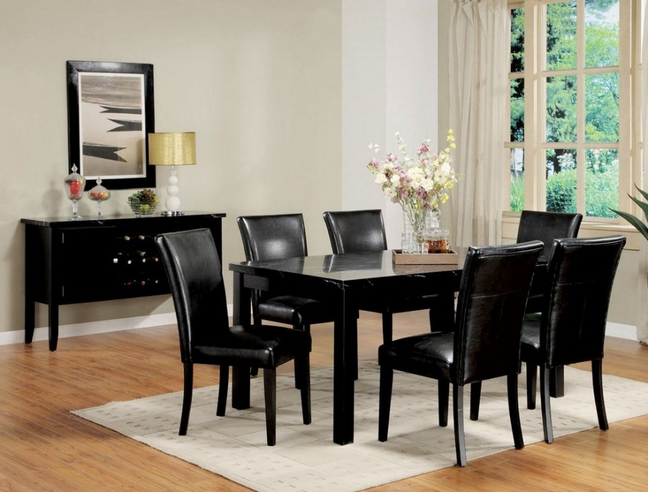 Nice Black Dining Room Table Chairs Fabulous Black Table And Chairs Set Alluring Black Dining Room