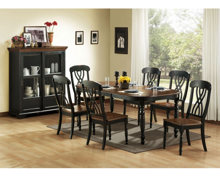 Nice Black Formal Dining Room Table Homelegance Ohana Collection Ohana Occasionals Set Ohana