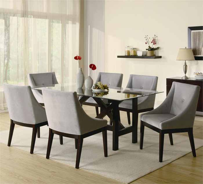 Nice Contemporary Dining Room Sets Contemporary Dining Room Chairs Alluring Decor Very Attractive