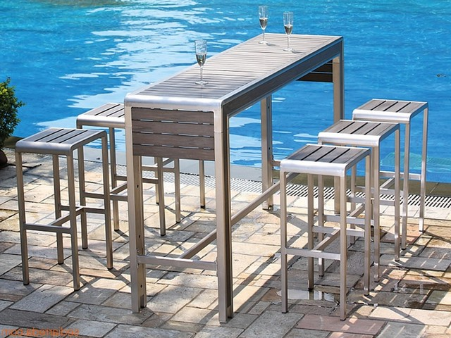 Nice High Top Outdoor Furniture Patio Table Set