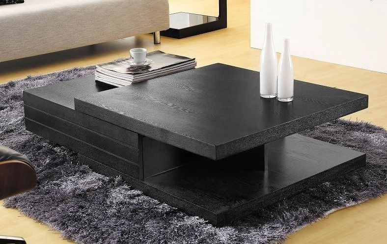 Nice Living Room Tables Contemporary Black Multi Layered Coffee Table Tampa Florida Vcjm06