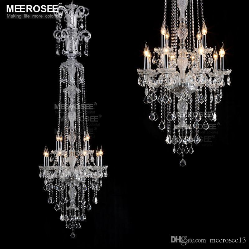 Nice Long Crystal Chandelier Modern Long Crystal Chandelier Clear Glass Chandelier Lighting