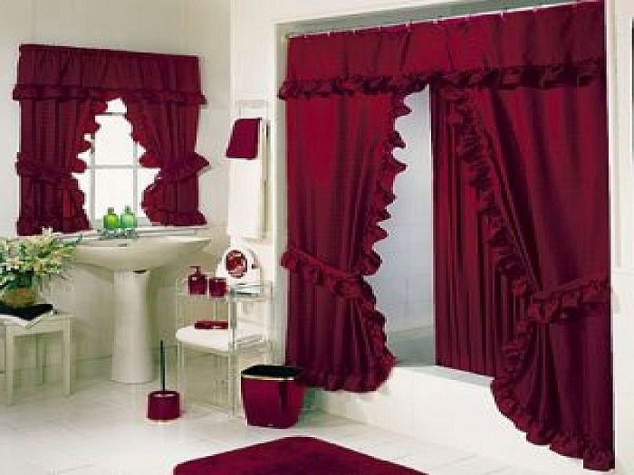 Nice Luxury Bathroom Curtains Luxury Bold Red Bathroom Shower Curtains Sets Luxury Shower