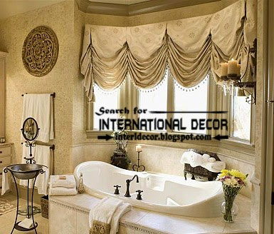 Nice Luxury Bathroom Curtains Luxury French Curtain Style For Bathroom Window Curtain Designs