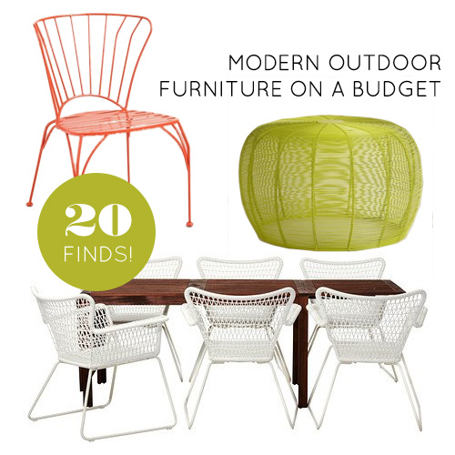 Nice Modern Exterior Furniture 20 Finds For Affordable And Modern Outdoor Furniture