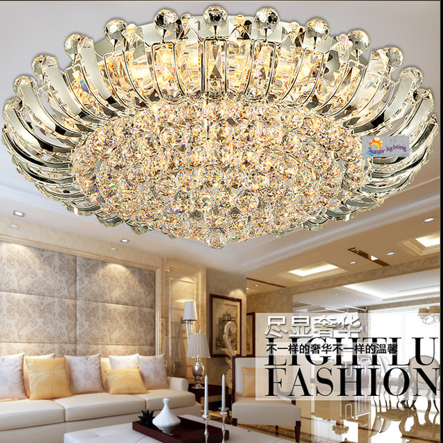 Nice Modern Luxury Ceiling Lights 100 Crystal Surface Ceiling Lamp Sunflower Large Led Luminaria