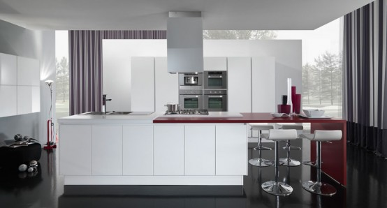 Nice New Modern Kitchen Design New Modern Kitchen Design With Red And White Cabinets Ego