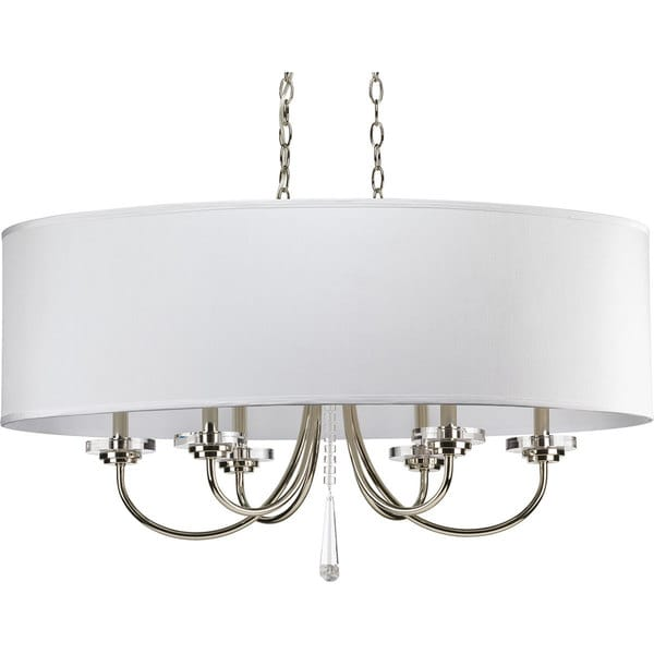 Nice Nickel Chandeliers Lighting Fixtures Progress Lighting Nisse Collection 6 Light Polished Nickel