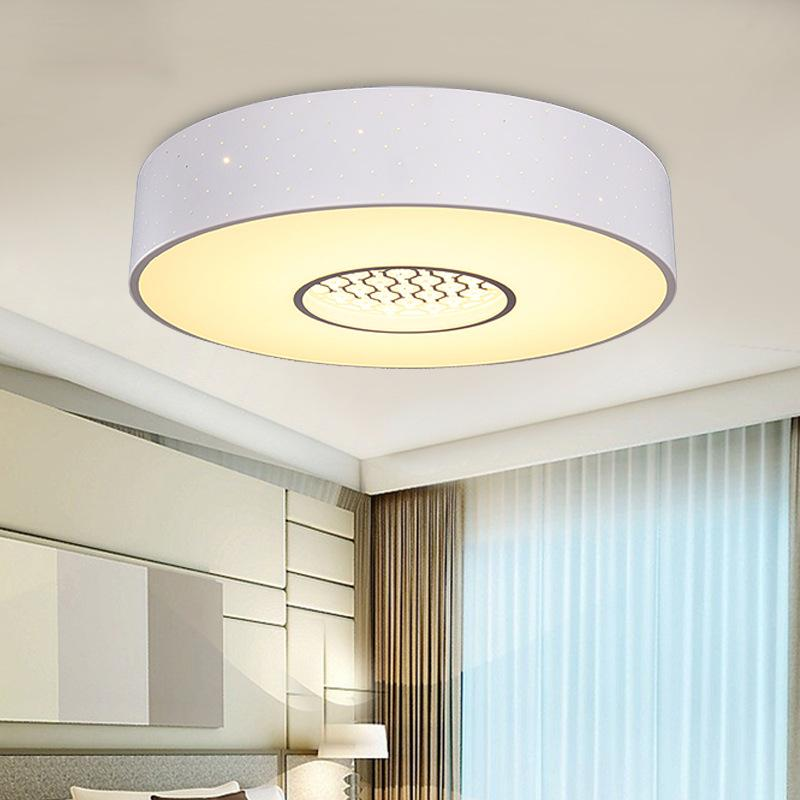 Nice Round Ceiling Light 2018 Modern Simple Iron Acrylic Ceiling Lamp Round Bedroom Study