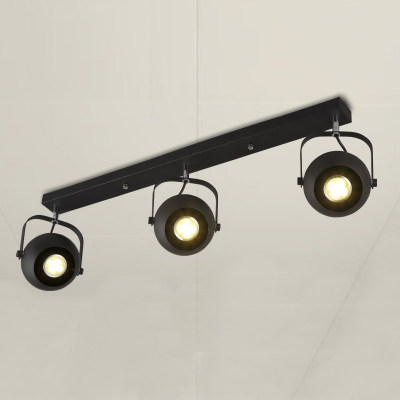 Nice Spotlight Ceiling Light 30 Wide Industrial Three Bulbs Spotlight Ceiling Light With