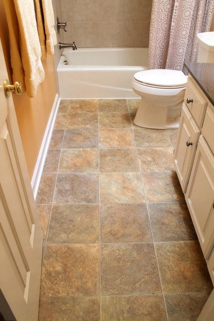 Nice Vinyl Bathroom Tiles Vinyl Floor Kohler Toilet In White Tile Tub Surround
