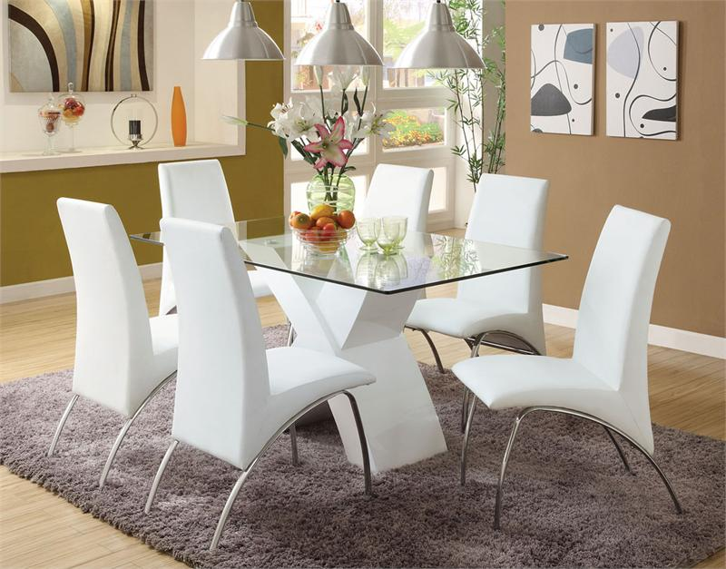 Nice White Dining Room Decor White Dining Table Captivating White Dining Room Table And Chairs