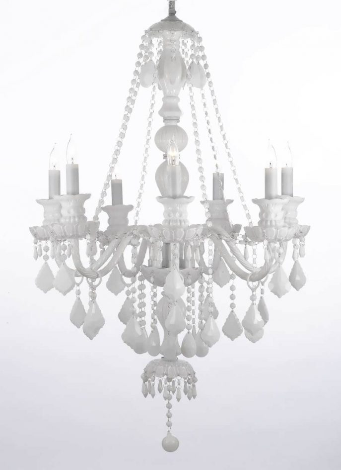 Stunning Big White Chandelier Chandelier Led Chandelier Gold Chandelier Big Chandelier