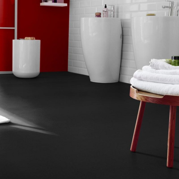 Stunning Black Vinyl Flooring Plain Colours 599 Black Vinyl Flooring Factory Direct Flooring