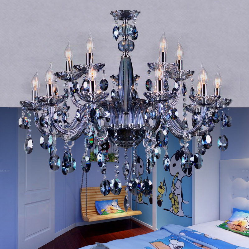 Stunning Blue Crystal Chandelier Light Aliexpress Buy Maria Theresa Chandelier Light Blue Crystal
