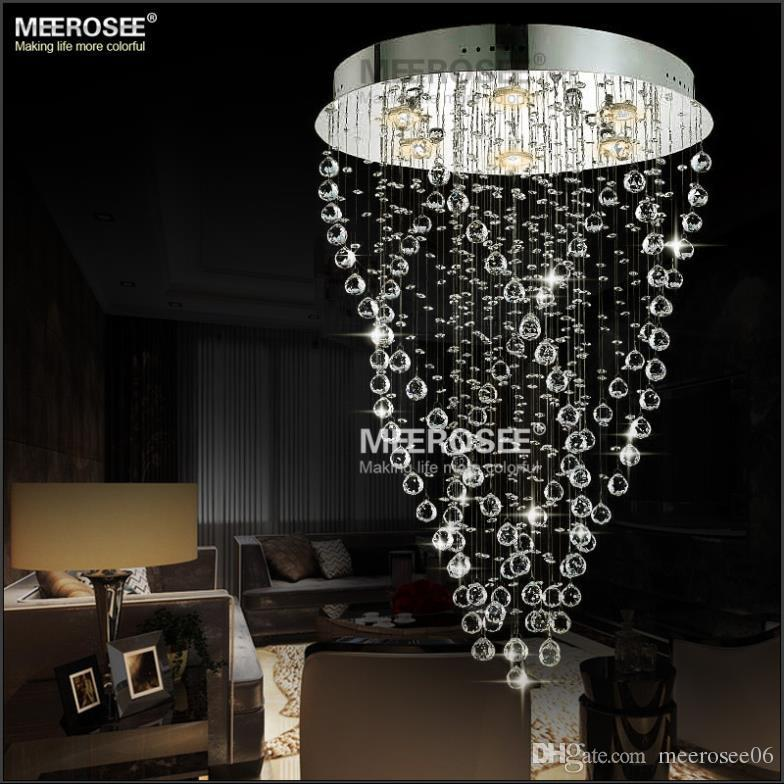 Stunning Chandelier Light Fixtures Modern Spiral Crystal Chandelier Light Fixture Long Crystal Light