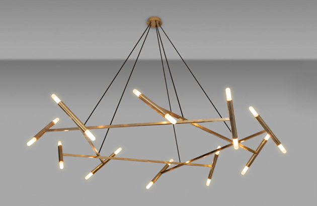 Stunning Contemporary Brass Chandelier Fabulous Modern Brass Chandelier Meet The Mandelier The Interior