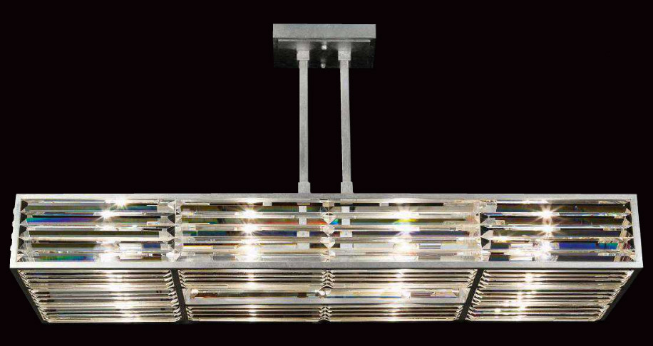 Stunning Contemporary Rectangular Chandelier Art Lamps 811740 Crystal Enchantment Rectangular Chandelier
