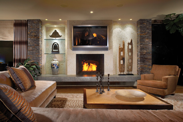 Stunning Contemporary Style Living Room Contemporary Style In Laguna Beach California Tropical Living