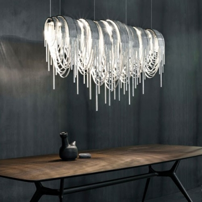 Stunning Designer Pendant Lights Designer Lighting Chain Hanging Large Linear Pendant