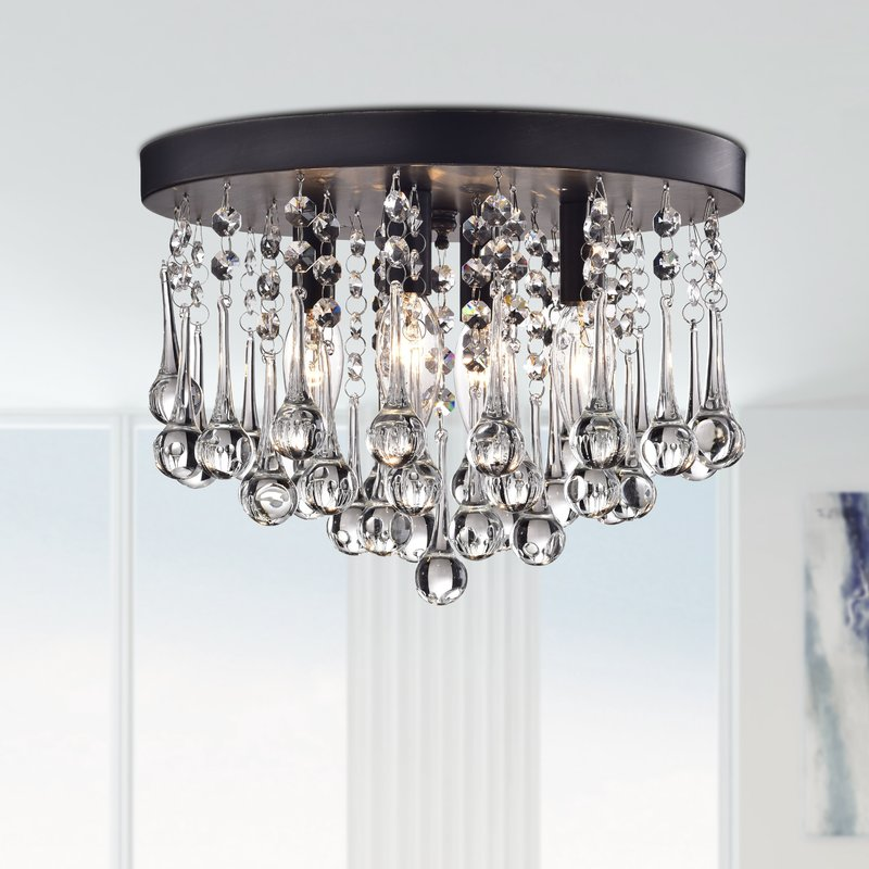 Stunning Flush Mount Chandelier Flush Mount Lighting Youll Love Wayfair