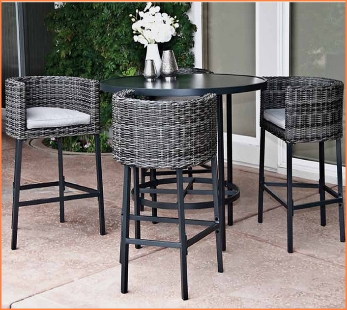 Stunning High Top Wicker Patio Set High Top Patio Table Set