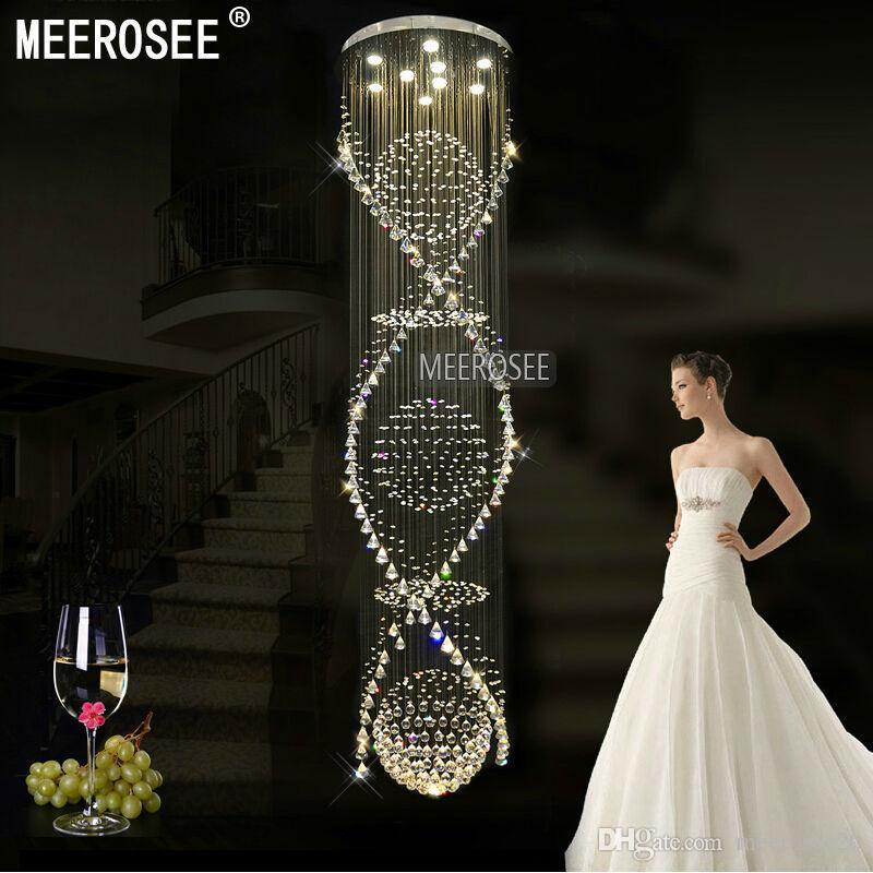 Stunning Long Crystal Chandelier Long Spiral Crystal Chandelier Light Fixture For Hotellob
