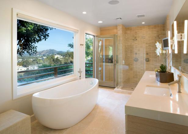 Stunning Modern Bath Design Modern Bathroom Design Ideas Pictures Tips From Hgtv Hgtv