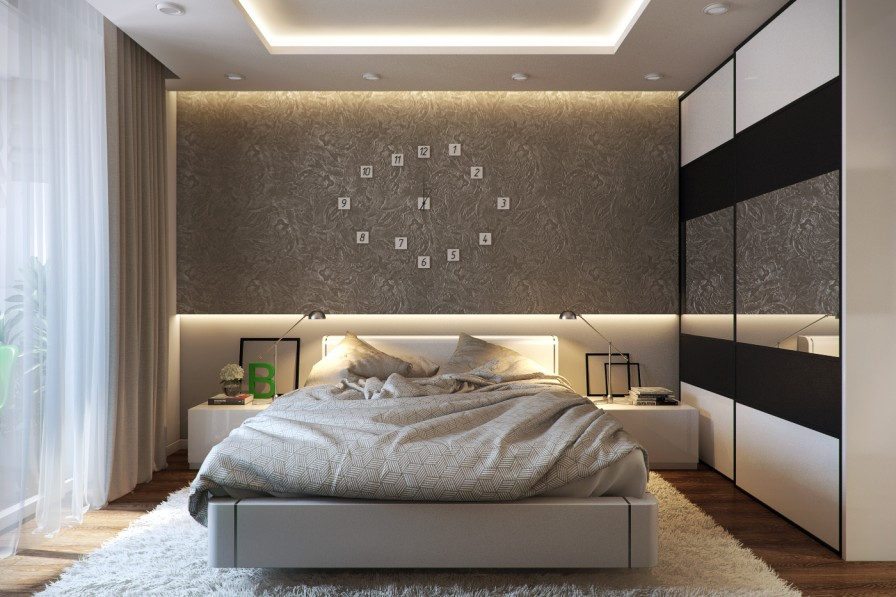 Wonderful Modern Bed Back Wall Designs Forma Design Love The White