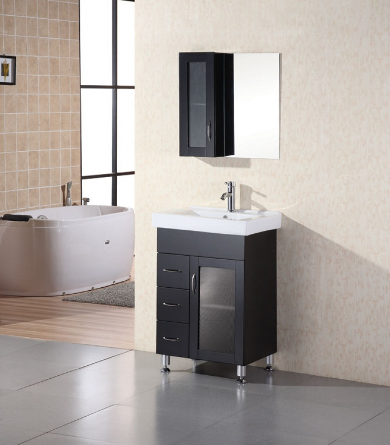 Stunning Modern Single Bathroom Vanity 24 Inch Modern Single Sink Bathroom Vanity With Ceramic Sink Uvde02224