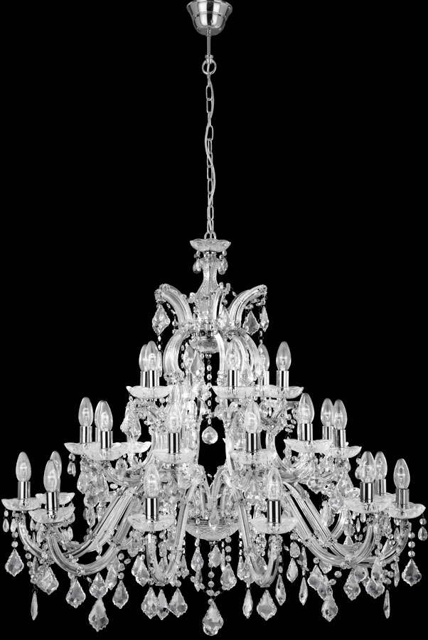 Stunning Very Large Chandeliers Large Marie Therese 30 Light Crystal Chandelier Polished Chrome