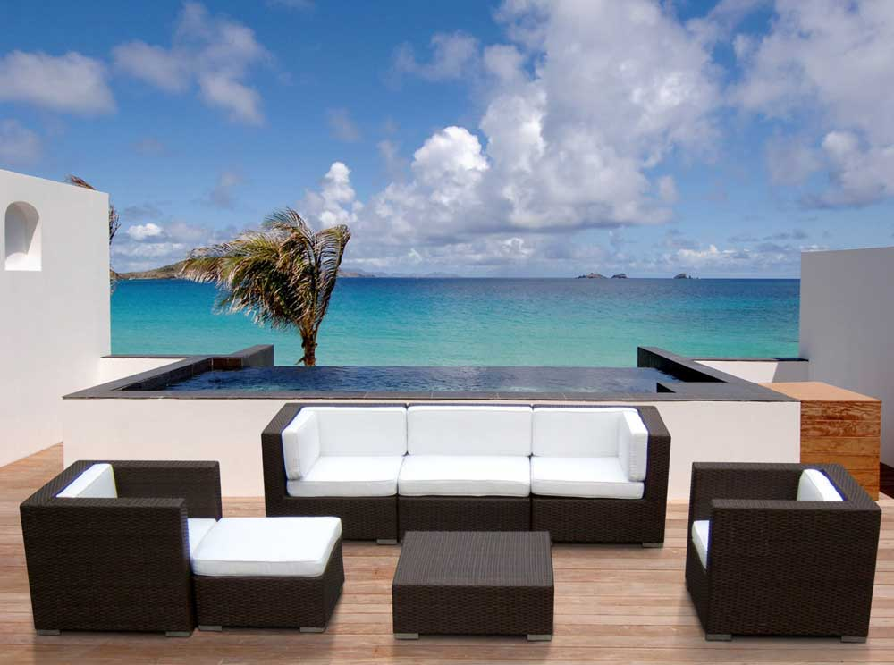 Stunning White Modern Patio Furniture Innovative Desig For Black Wicker Patio Furniture Ideas Modern