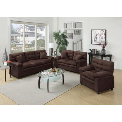 Stylish 3 Piece Living Room Set Red Barrel Studio Kingsport 3 Piece Living Room Set Reviews