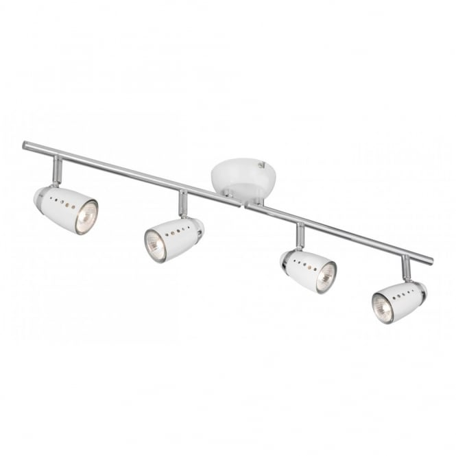 Stylish 4 Light Ceiling Light Searchlight 5764wh Pluto 4 Light Polished Chrome Ceiling Spotlight
