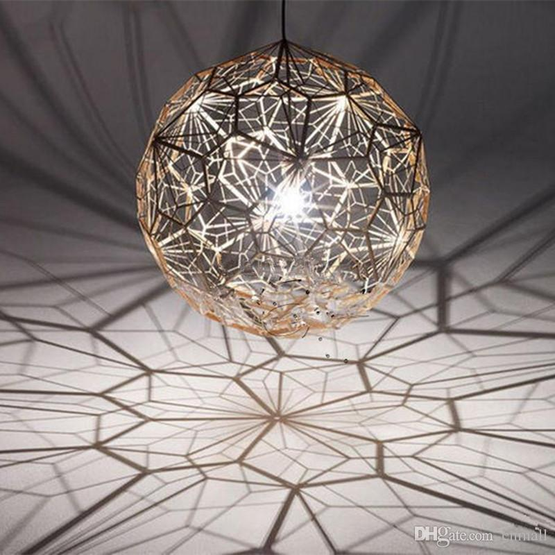 Stylish Ball Chandelier Light Tom Dixon Etch Web Creative Arts Diamond Ball Hanging Lighting