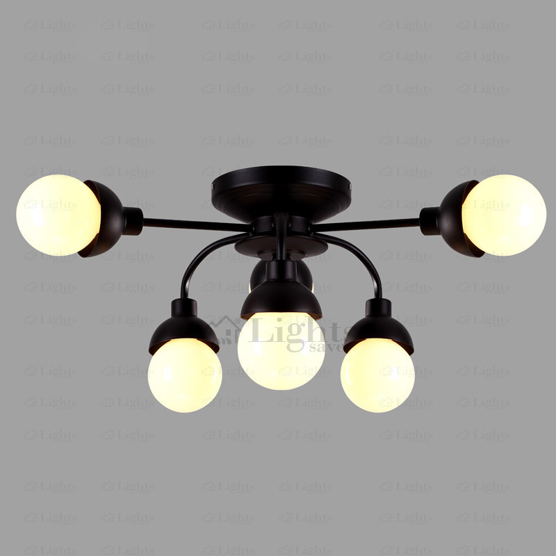 Stylish Black Ceiling Lights Simple 6 Light Wrought Iron Black Ceiling Light