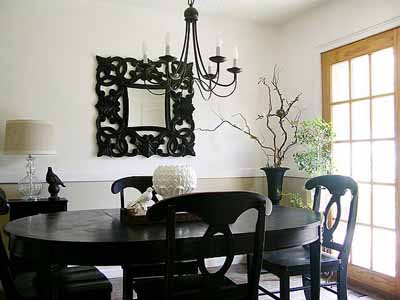 Stylish Black Dining Room Furniture Decorating Ideas Charming Black Dining Room Furniture Decorating Ideas 11 With