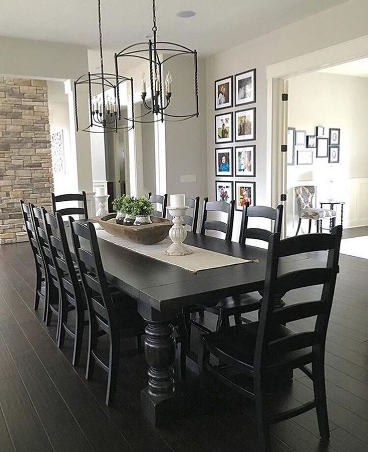 Stylish Black Dining Table Decor Best 25 Black Dining Room Table Ideas On Pinterest Black