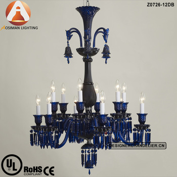 Stylish Blue Crystal Chandelier Light 12 Light Baccarat Blue Crystal Chandelier Buy Blue Crystal