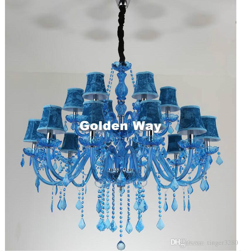 Stylish Blue Crystal Chandelier Light Blue Crystal Chandelier Lighting Luxury Crystal Light Modern