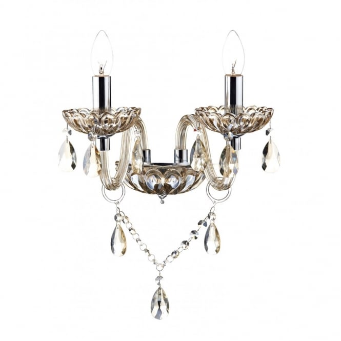 Stylish Chandelier Style Light Traditional Chandelier Style Wall Light In Champagne Gold Glass