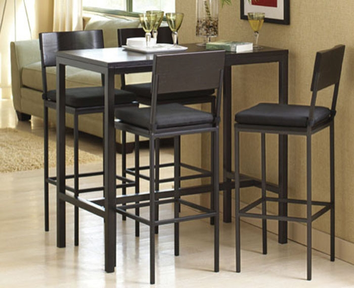 Stylish High Top Dining Room Chairs Collection In Tall Dining Table Set With Dining Room Top Dining
